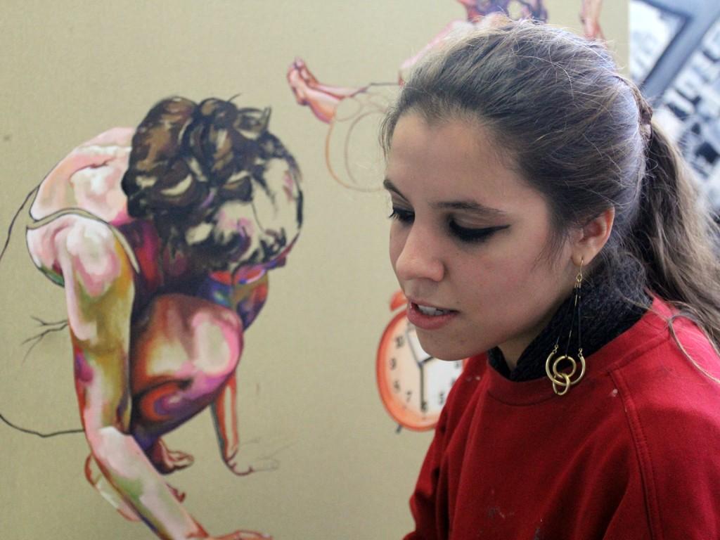 Estudante-atelier-pintura-FBAUP