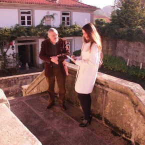 Com o historiador e director do solar, J. A. Gonçalves Guimarães