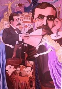 Obra de um dos artistas membro da Confraria Queirosiana