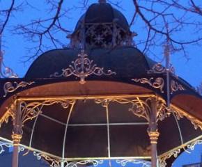 Um coreto romântico na Póvoa de Varzim