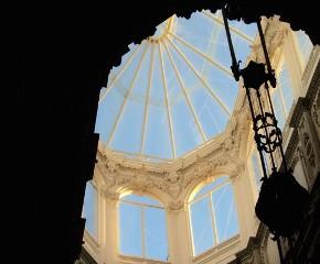 A clarabóia do Palácio da Bolsa