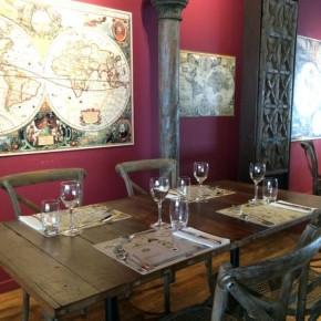 Sala do restaurante Mundo de Sabores
