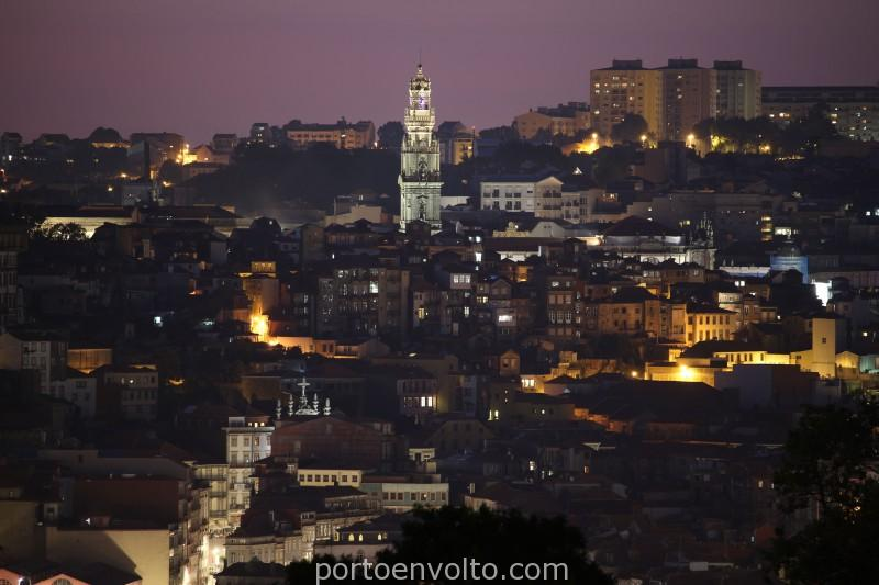 Porto monumental Clérigos Tower by night