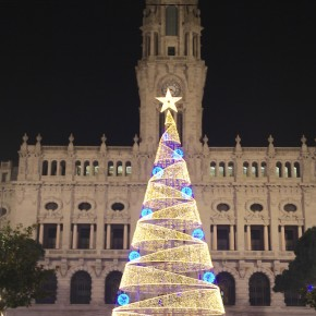 The sparkling Christmas tree in the heart of northern of Portugal