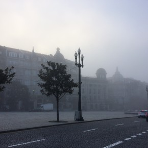 Beautiful Porto foggy morning
