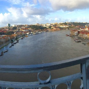 Porto after the flood of the Douro river