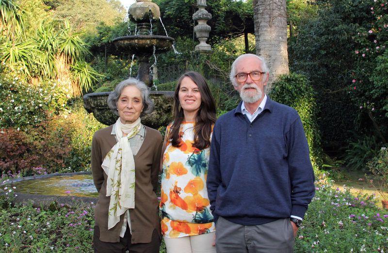 Laura Allen, Vera Dantas and Jose Alberto Allen in Villar d'Allen nursery on Porto