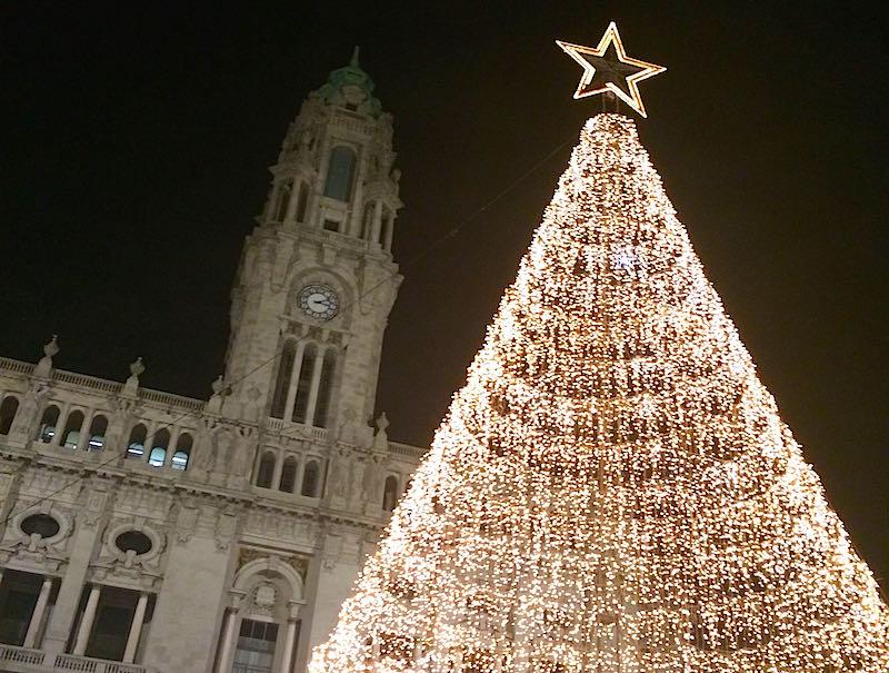 Arvore de natal no Porto