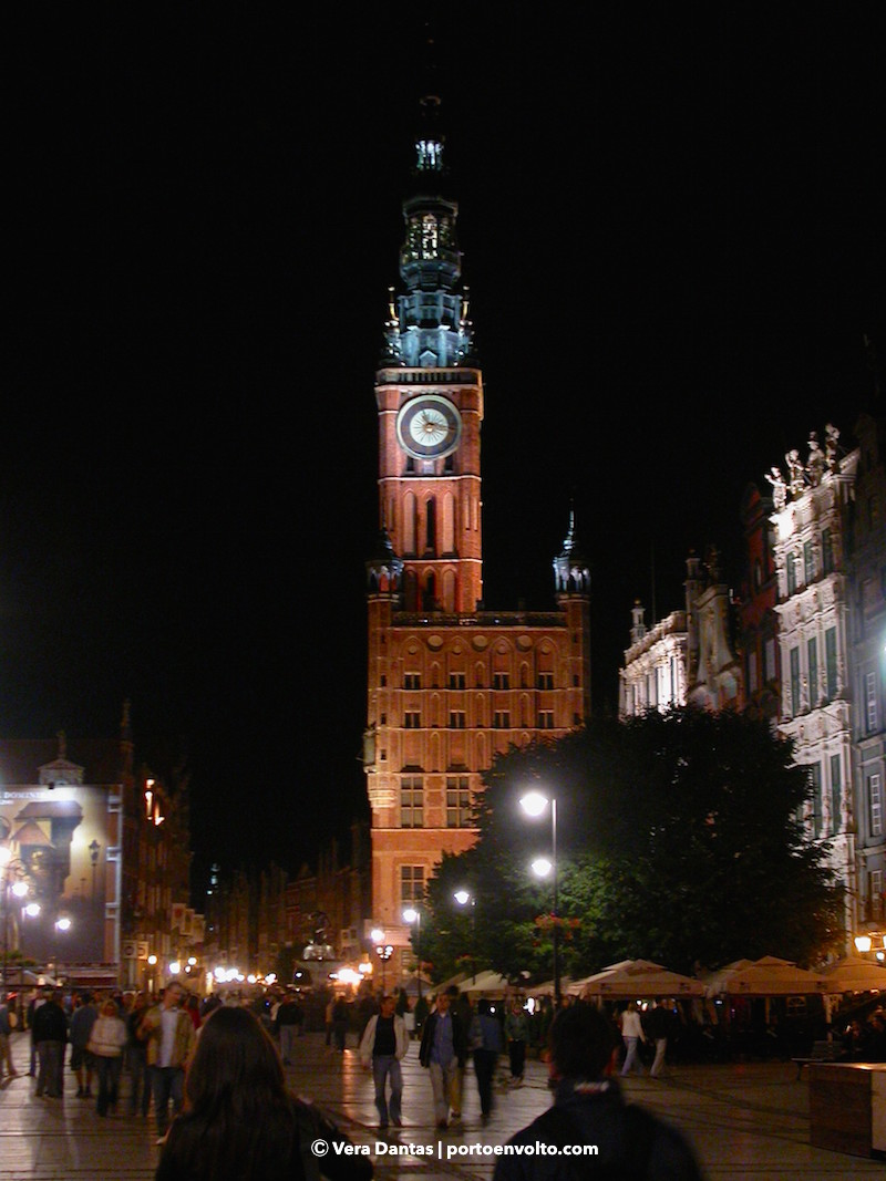 Gdansk City Council Tower Night