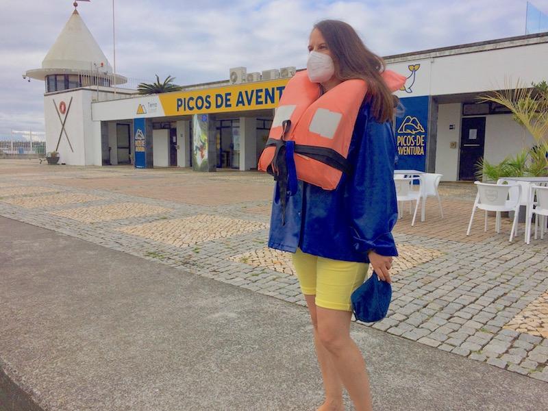 Vera Dantas na Marina de Ponta Delgada